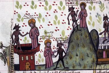 Speculum humanae salvationis (1461), Bibliothèque Municipale, Lione
